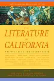 The Literature of California, Volume 1 by