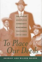 Cover of: To place our deeds