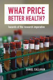 Cover of: What Price Better Health? | Daniel Callahan
