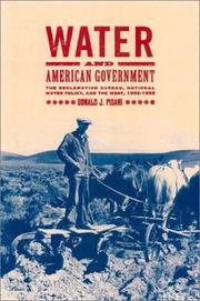 Cover of: Water and American Government