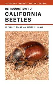 Cover of: Introduction to California Beetles (California Natural History Guides) | Arthur V. Evans