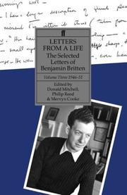 Cover of: Letters from a life | Britten, Benjamin
