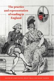 Cover of: The Practice and Representation of Reading in England |