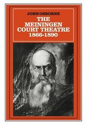 Cover of: The Meiningen Court Theatre 18661890