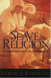 Cover of: Slave Religion | Albert J. Raboteau