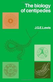 The biology ofcentipedes by J. G. E. Lewis
