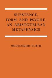 Substance, form, and psyche by Montgomery Furth