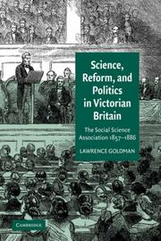 Cover of: Science, Reform, and Politics in Victorian Britain