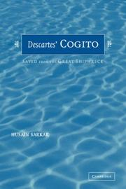 Cover of: Descartes' Cogito