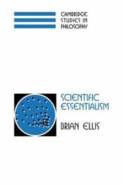 Cover of: Scientific Essentialism (Cambridge Studies in Philosophy) by Brian Ellis
