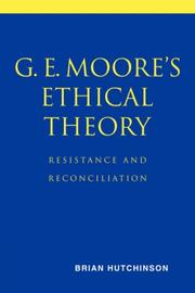Cover of: G. E. Moore