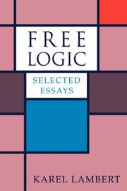 Free Logic by Karel Lambert