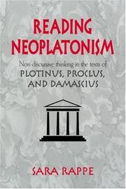 Cover of: Reading Neoplatonism | Sara Rappe