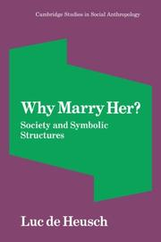 Cover of: Why marry her?