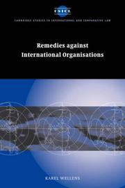 Remedies against International Organisations (Cambridge Studies in International and Comparative Law)