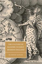Cover of: The culture of slander in early modern England