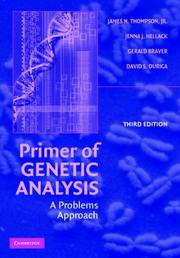 Cover of: Primer of Genetic Analysis | Jr, James N. Thompson, Jenna J. Hellack, Gerald Braver, David S. Durica