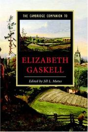 Cover of: The Cambridge Companion to Elizabeth Gaskell