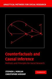 Cover of: Counterfactuals and Causal Inference | Stephen L. Morgan