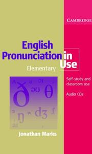 Cover of: English Pronunciation in Use Elementary 5 Audio CD Set (English Pronunciation in Use) | Jonathan Marks