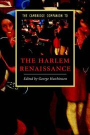 Cover of: The Cambridge Companion to the Harlem Renaissance