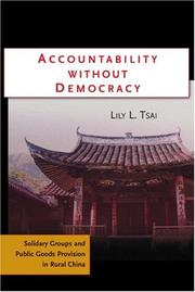 Cover of: Accountability Without Democracy | Lily L. Tsai