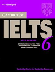 Cover of: Cambridge IELTS 6 Student's Book with answers
