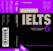 Cover of: Cambridge IELTS 6 Audio Cassettes