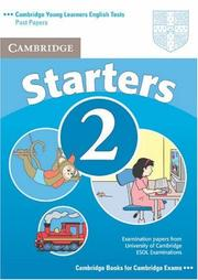 Cover of: Cambridge Young Learners English Tests Starters 2 Student's Book