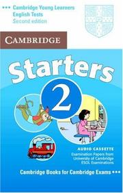 Cover of: Cambridge Young Learners English Tests Starters 2 Audio Cassette