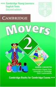 Cover of: Cambridge Young Learners English Tests Movers 2 Audio Cassette