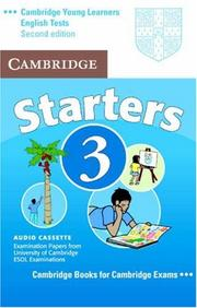 Cover of: Cambridge Young Learners English Tests Starters 3 Audio Cassette
