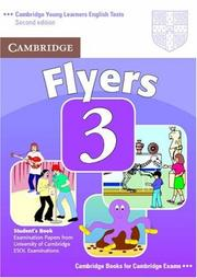 Cover of: Cambridge Young Learners English Tests Flyers 3 Student's Book