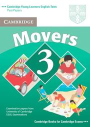 Cover of: Cambridge Young Learners English Tests Movers 3 Student's Book
