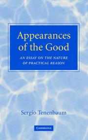 Cover of: Appearances of the Good | Sergio Tenenbaum