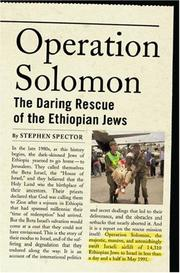 Cover of: Operation Solomon | Stephen Spector