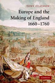 Cover of: Europe and the Making of England, 16601760