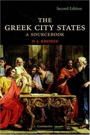 Cover of: The Greek City States | P. J. Rhodes