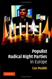 Cover of: Populist radical right parties in Europe | Cas Mudde