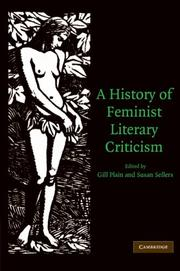 Cover of: A History of Feminist Literary Criticism |