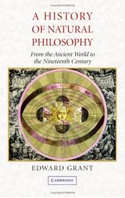 Cover of: A History of Natural Philosophy | Edward Grant