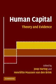 Cover of: Human Capital |
