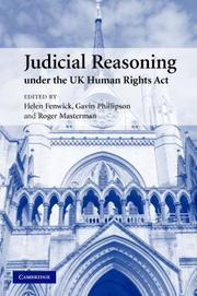 Cover of: Judicial Reasoning under the UK Human Rights Act |