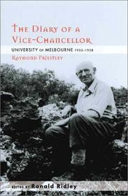 Cover of: The Diary of a Vice-Chancellor | Raymond Priestly
