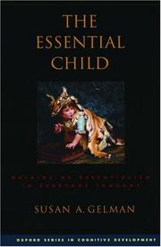 Cover of: The Essential Child | Susan A. Gelman