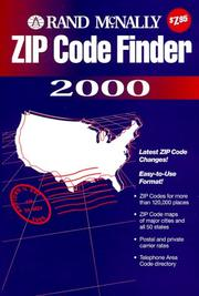 Cover of: Rand McNally Zip Code Finder 2000 |