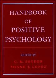 Cover of: Handbook of positive psychology |