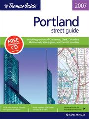 Cover of: The Thomas Guide Portland, Oregon: Oregon |