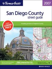 The Thomas Guide 2007 San Diego County street guide, including portions of Imperial County