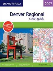 Cover of: Rand McNally 2007 Denver Regional street guide |